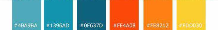 رعایت اصول همنشینی رنگ ها برای طراحی سایت با رنگ آبی