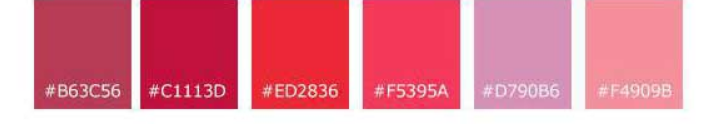 رنگ های متناسب با رنگ صورتی
