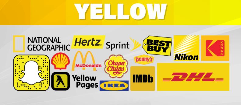 استفاده از رنگ زرد در تبلیغات