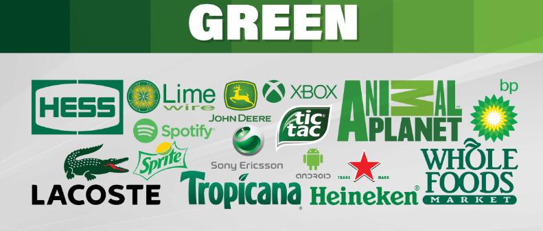 استفاده از رنگ سبز برای معرفی برند
