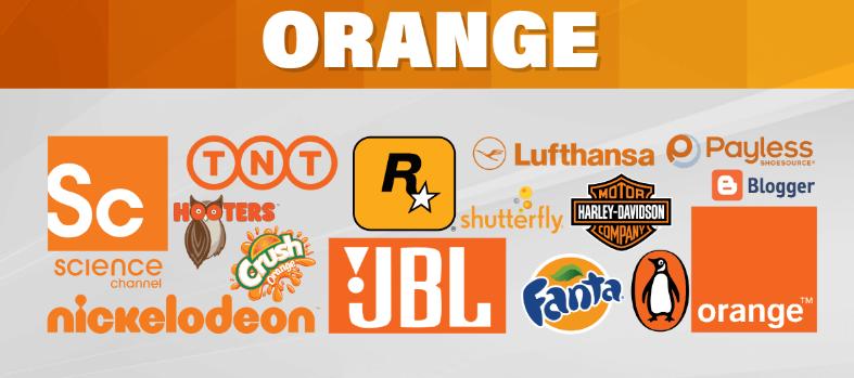 برندهای معتبر نارنجی رنگ
