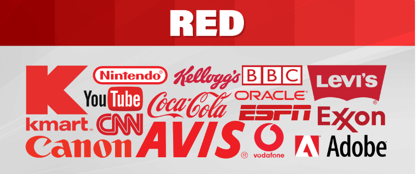 برندهای تجاری دارای رنگ قرمز