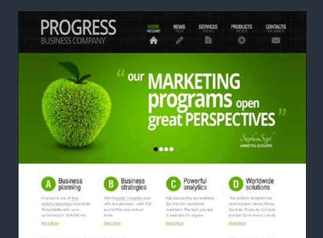 طراحی سایت با استفاده از رنگ سبز